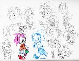 2015 amy rose fun bunny amy sketches by spongefox on deviantart