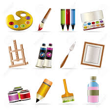 Painting Icon Painter Drawing And Painting Icons Vector Icon Set Royalty Free