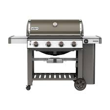 weber genesis ii e 410 4 burner natural gas grill in black with