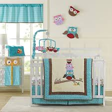 Owls Crib Bedding Laugh Giggle Smile Spotty Owls Crib Bedding Collection Bed