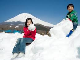 play in the snow on mt fuji and winter sightseeing tour from toyko