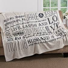 wedding gift jokes this anniversary gift idea it s a personalized blanket that