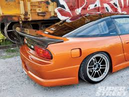 nissan orange 1989 nissan 240sx jdm restorod super street magazine