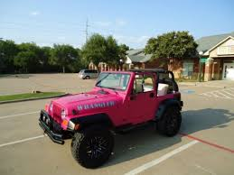 jeep wrangler pink purchase used 2002 jeep wrangler custom sport barbie pink with
