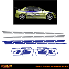 mitsubishi evo 7 2 fast 2 furious fast and furious inspired decals 4 hellbound graphics