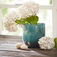 Glass Bowl Vases Bowl Vase Blue Vases For Wedding Supplier