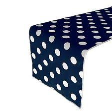 Navy Blue Table Runner Cotton Blend Polka Dot Table Runners Ebay