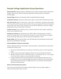cover letter college admissions essay examples college application