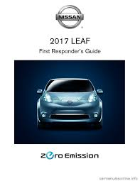 nissan leaf yellow warning light nissan leaf 2017 1 g first responders guide