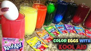 Coloring Eggs Coloring Easter Eggs With Kool Aid Youtube