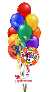 large birthday balloons birthday balloon bouquet custom name age select your colors 2