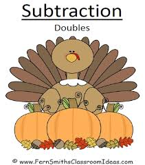 thanksgiving center freebie friday free thanksgiving subtraction doubles center