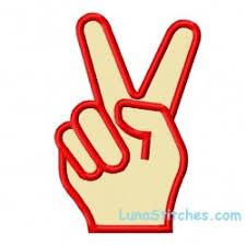 peace sign lunastitches com