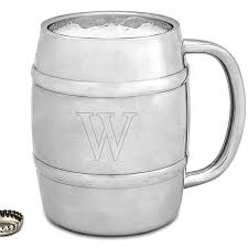 personalized 14 ounce insulated stainless steel keg mug