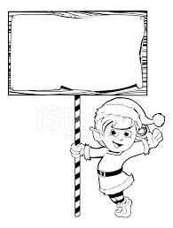 christmas elf holding a sign stock photos freeimages com