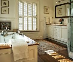 enthralling small narrow master bathroom ideas with wood trim