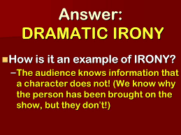 isn u0027t it ironic the types of irony learning objective we will be