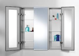 Bathroom Cabinet Mirrored Bathroom Medicine Cabinets With Lights Recessed Mirrored
