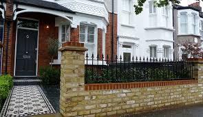 unique front garden brick wall designs h15 in home decor ideas