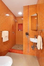 Orange Bathroom Sarah Barnard Design Blog