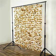 wedding backdrop gold metallic foil flower backdrop razatrade