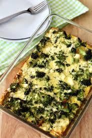 egg strata casserole overnight broccoli and egg casserole the healthy toast