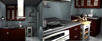 interior archaic l shape kitchen decoration using folding tall