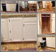 how to create extra kitchen storage to replace a dated trash