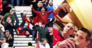 meet mick and phil the stoke fans whose goal celebration went