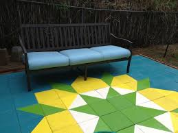 Painting Patio Pavers Block Quilt Patio Your Craft Pinterest Block Quilt