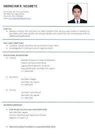 resume format 2017 philippines good resume exle philippines resume ixiplay free resume sles