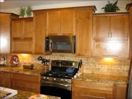kitchen kitchen countertop ideas with oak cabinets black and