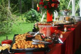 Table Buffet Decorations by Elegant Holiday Tablescapes Catering Buffet Tablescapes
