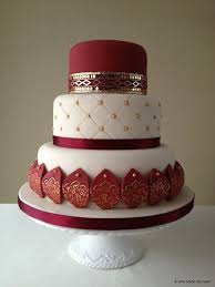 Soma Sengupta Indian Wedding Cakes Traditional Red White U0026 Gold
