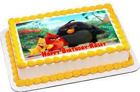 Movie Themed Cake Decorations The Angry Birds Movie Edible Cake Topper U0026 Cupcake Toppers