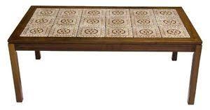 tile top coffee table vintage danish mobler mid century modern rosewood tile top coffee