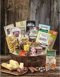 meat and cheese gift baskets stew s wow gourmet gift basket with meat cheese and nuts