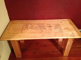 6 homemade coffee tables with wooden tops