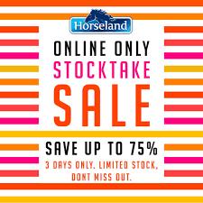 horseland stocktake sale arrived head