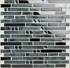 stainless steel mosaic tile backsplash ssmt028 glossy stainless