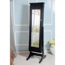 Armoire Ikea Occasion by Modern Jewelry Armoire Cheval Mirror High Gloss Black Hayneedle