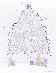 free printable giant christmas tree coloring pages christmas