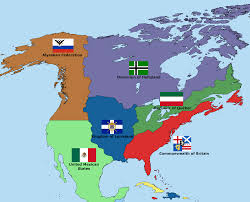 United States Timeline Map by North America In An Alternative Timeline Imaginarymaps
