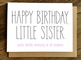 funny birthday card birthday card for sister sister