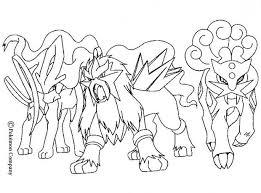raikou electric friends pokemon coloring electric