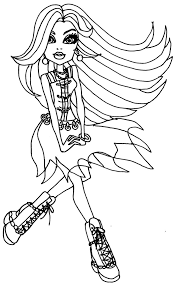 monster high colouring pages frankie stein colouring bratz