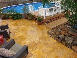 decorating attractive above ground pool deck for enjoyable home