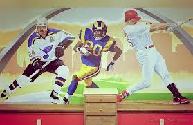 sports murals for bedrooms st louis sports mural peter engelsmann murals