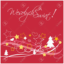 christmas red vector card or invitation for party with merry