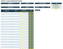 Weekly Attendance Sheet Template Free Attendance Spreadsheets And Templates Smartsheet